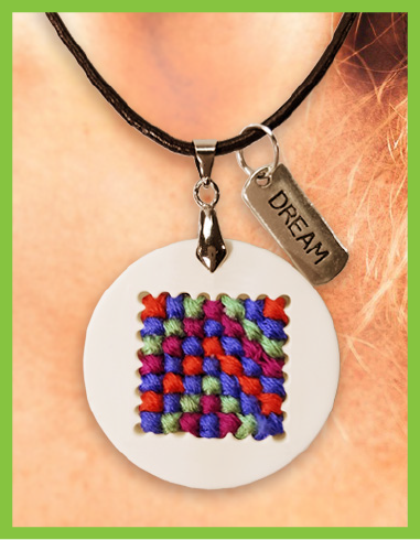 Cross Stitch Pendant Product Image